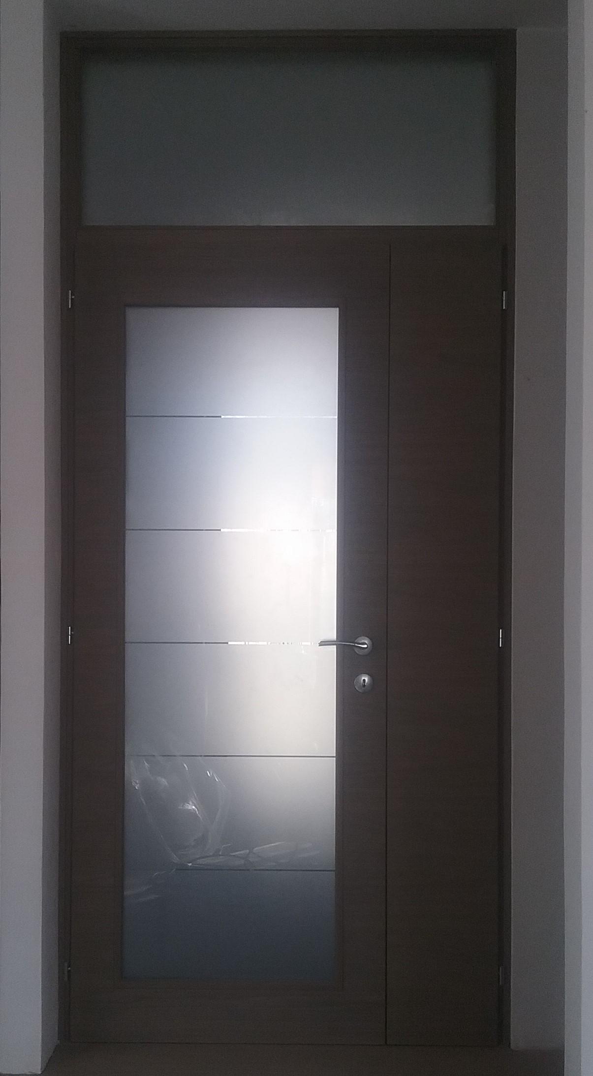 Porte interne falegnameria dal santo - Porta interna vetro ...